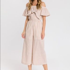 English Factory Off The Shoulder Jumpsuit